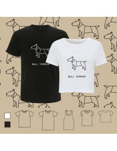 T-shirt ORIGAMI DOG BULL TERRIER
